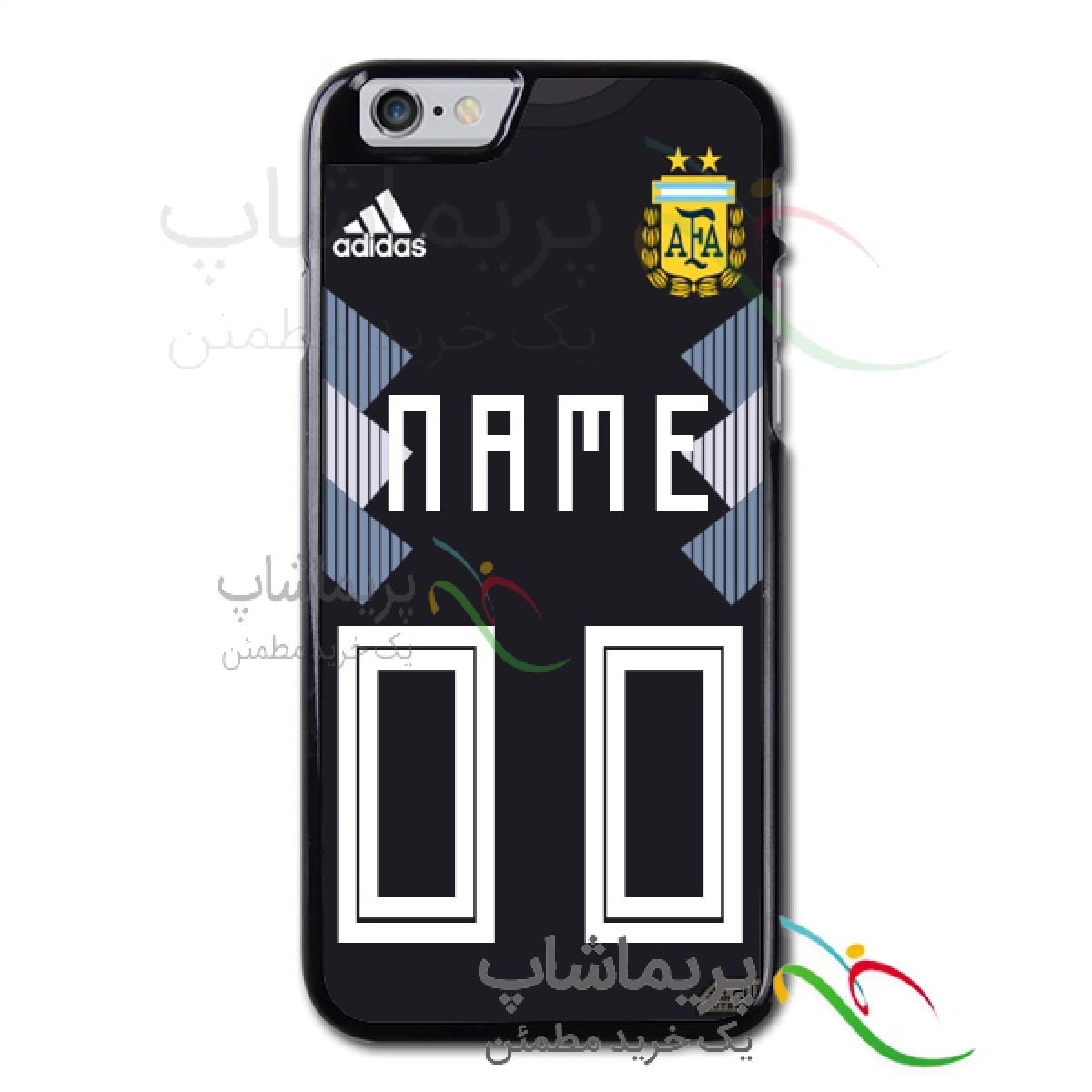 قاب موبایل آرژانتین پیراهن دوم نام و شماره دلخواه جام جهانی