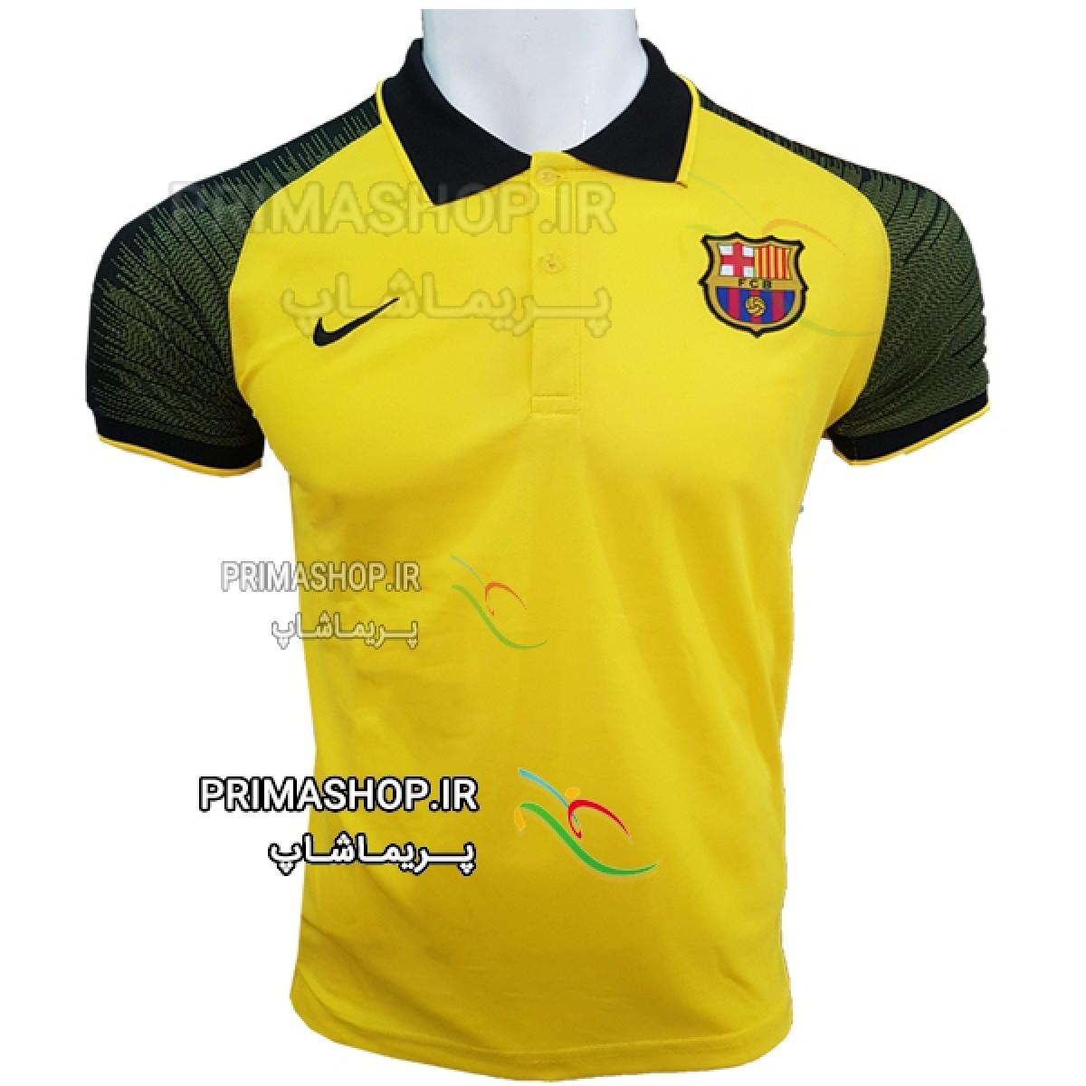 لباس هتلی بارسلونا زرد 2018/19 اورجینال تایلندی