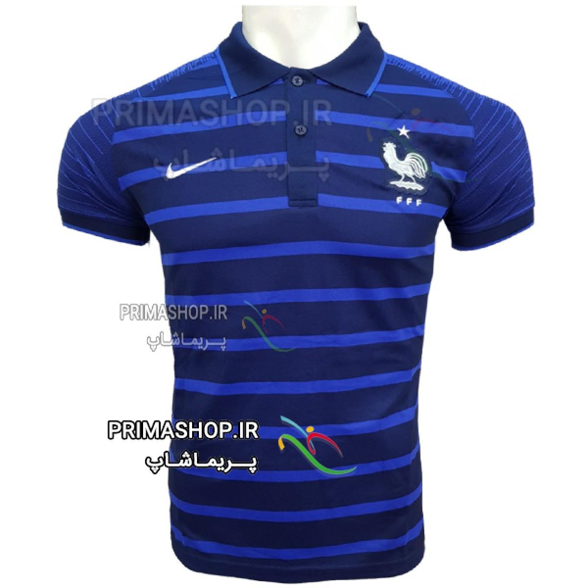 پیراهن هتلی فرانسه آبی سورمه ای 2018 اورجینال تایلندی