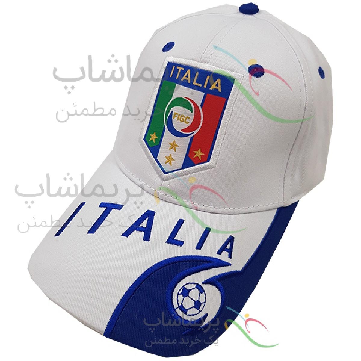کلاه هواداری ایتالیا سفید