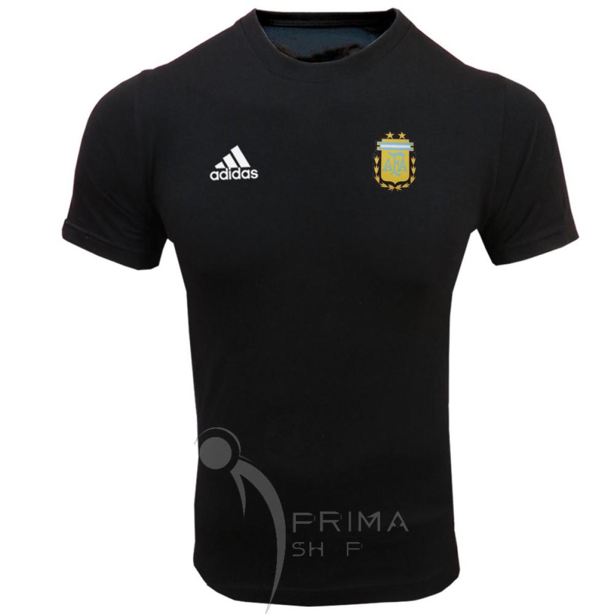 لباس هواداری آرژانتین مشکی   تیشرت آستین کوتاه