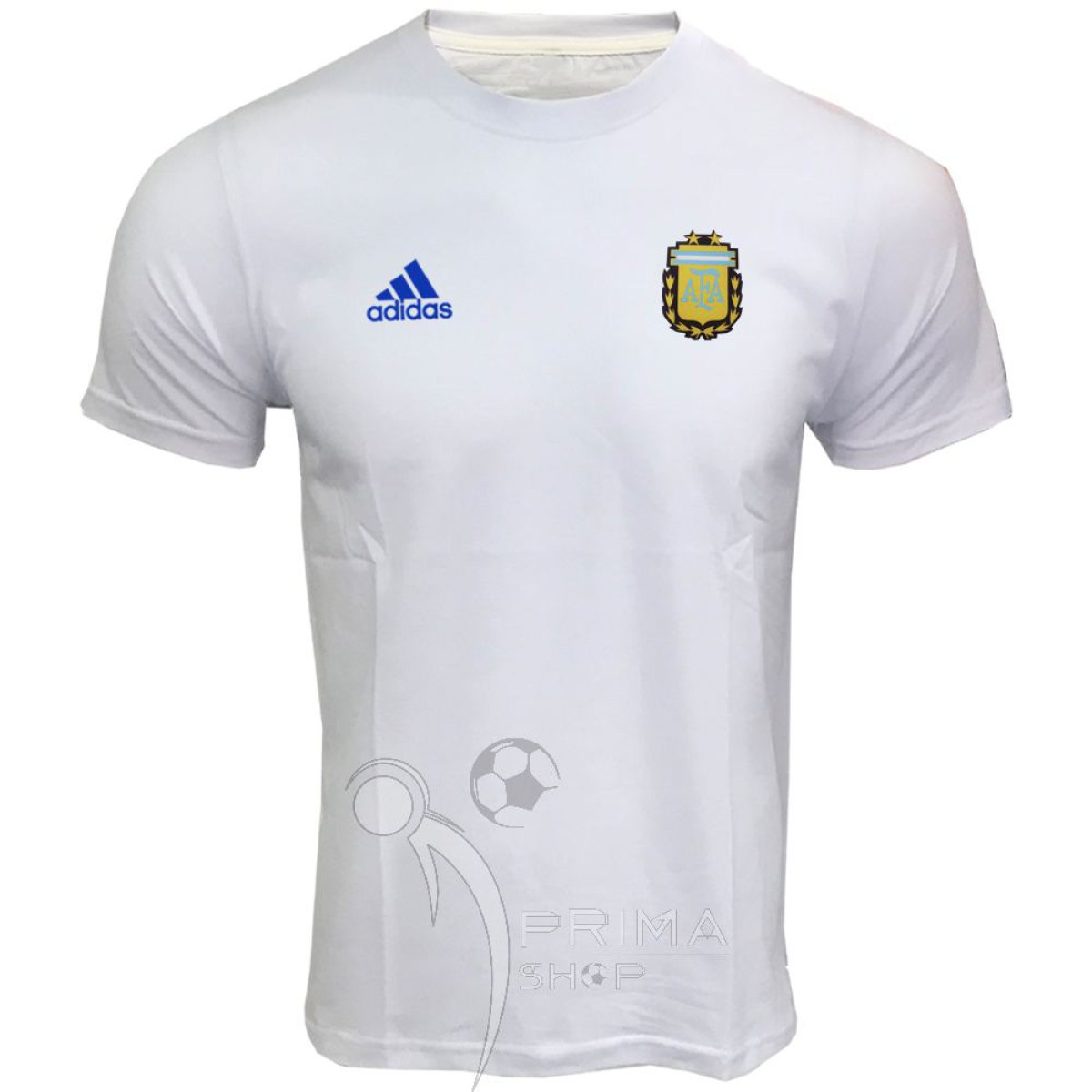لباس هواداری آرژانتین سفید آستین کوتاه