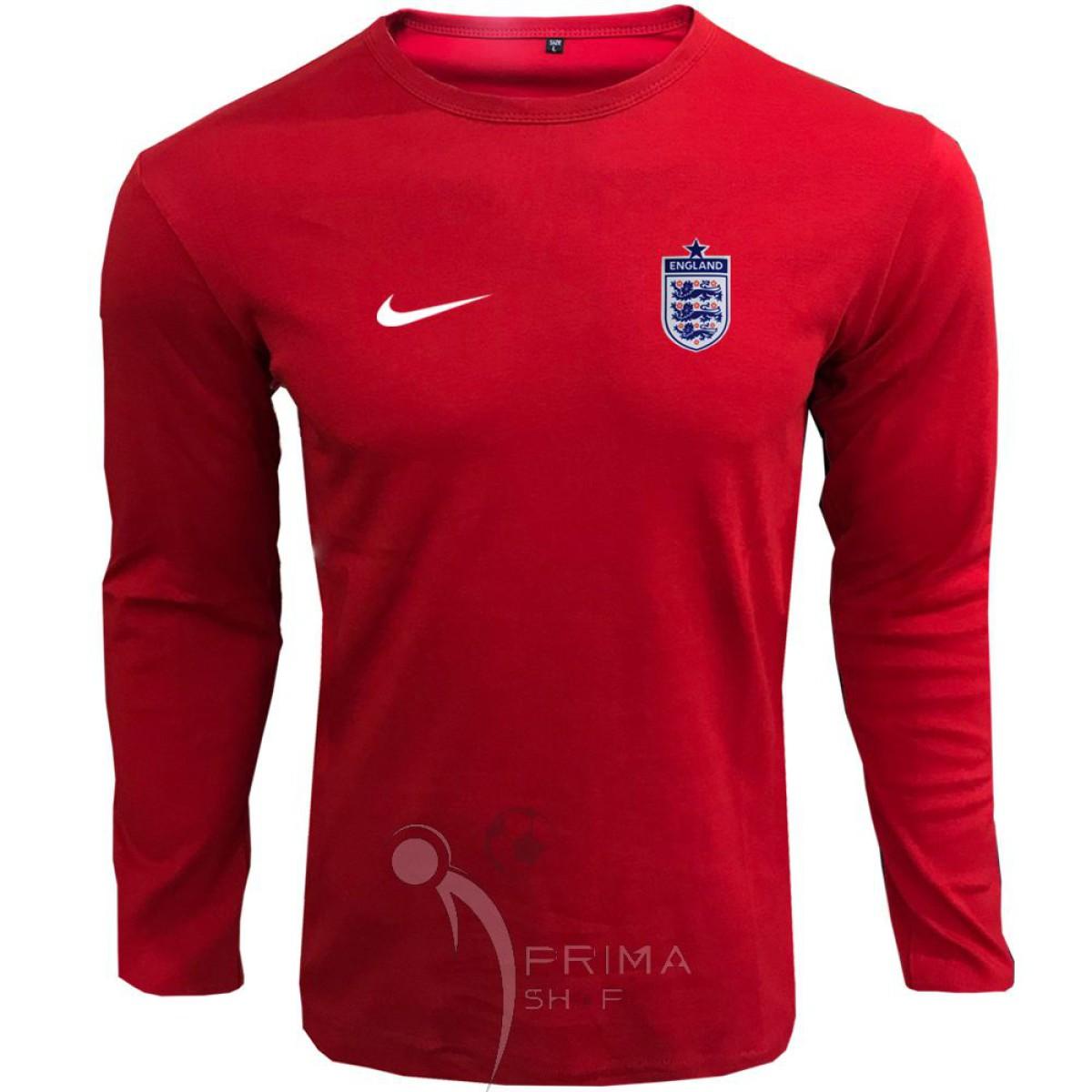 لباس هواداری انگلستان قرمز تیشرت آستین بلند