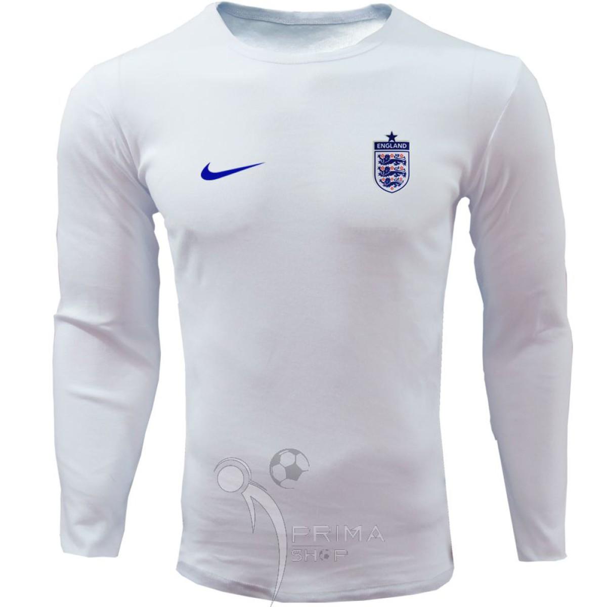 لباس هواداری انگلستان سفید تیشرت آستین بلند
