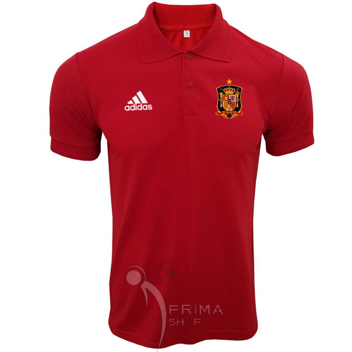 پولوشرت اسپانیا قرمز یقه دار دو دکمه