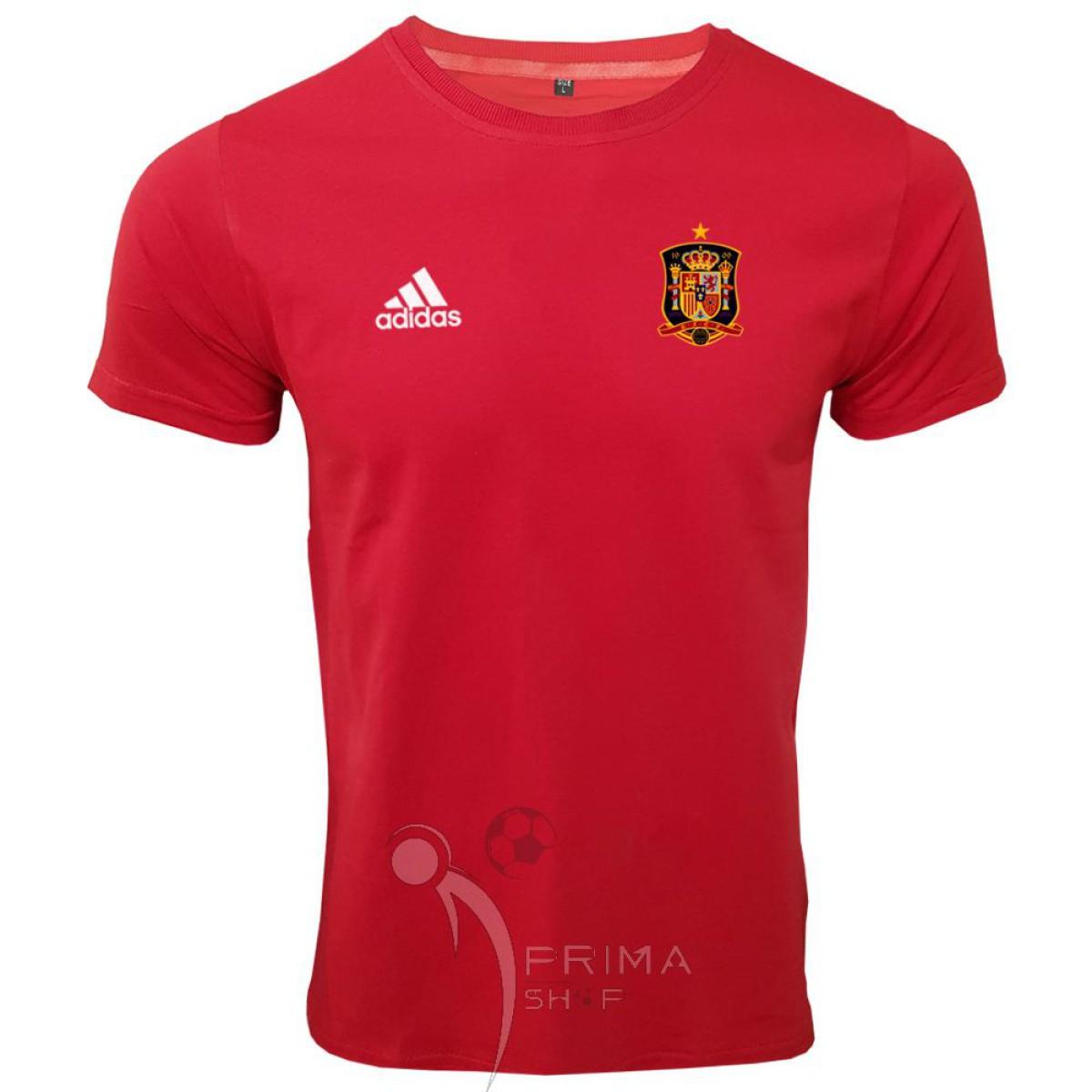لباس هواداری اسپانیا  قرمز آستین کوتاه