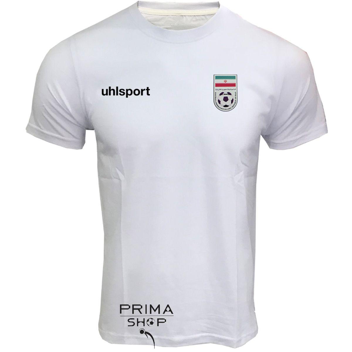 لباس هواداری ایران سفید تیشرت آستین کوتاه