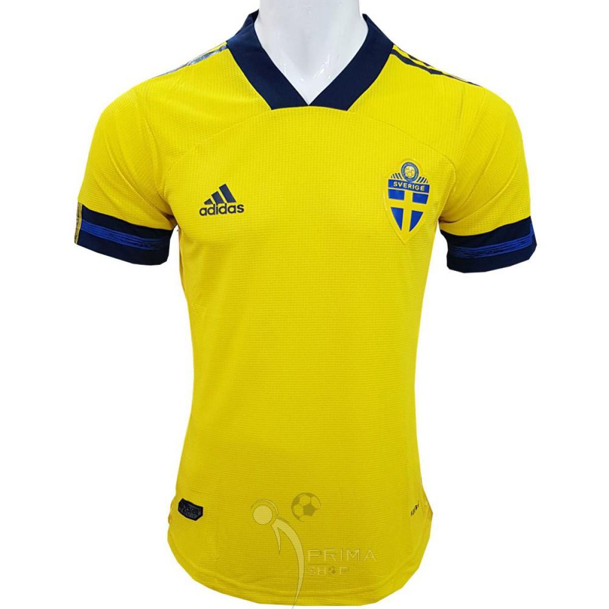 لباس اول سوئد ورژن پلیر 2020 با رنگ زرد و لوگو ژلاتینی پرس شده