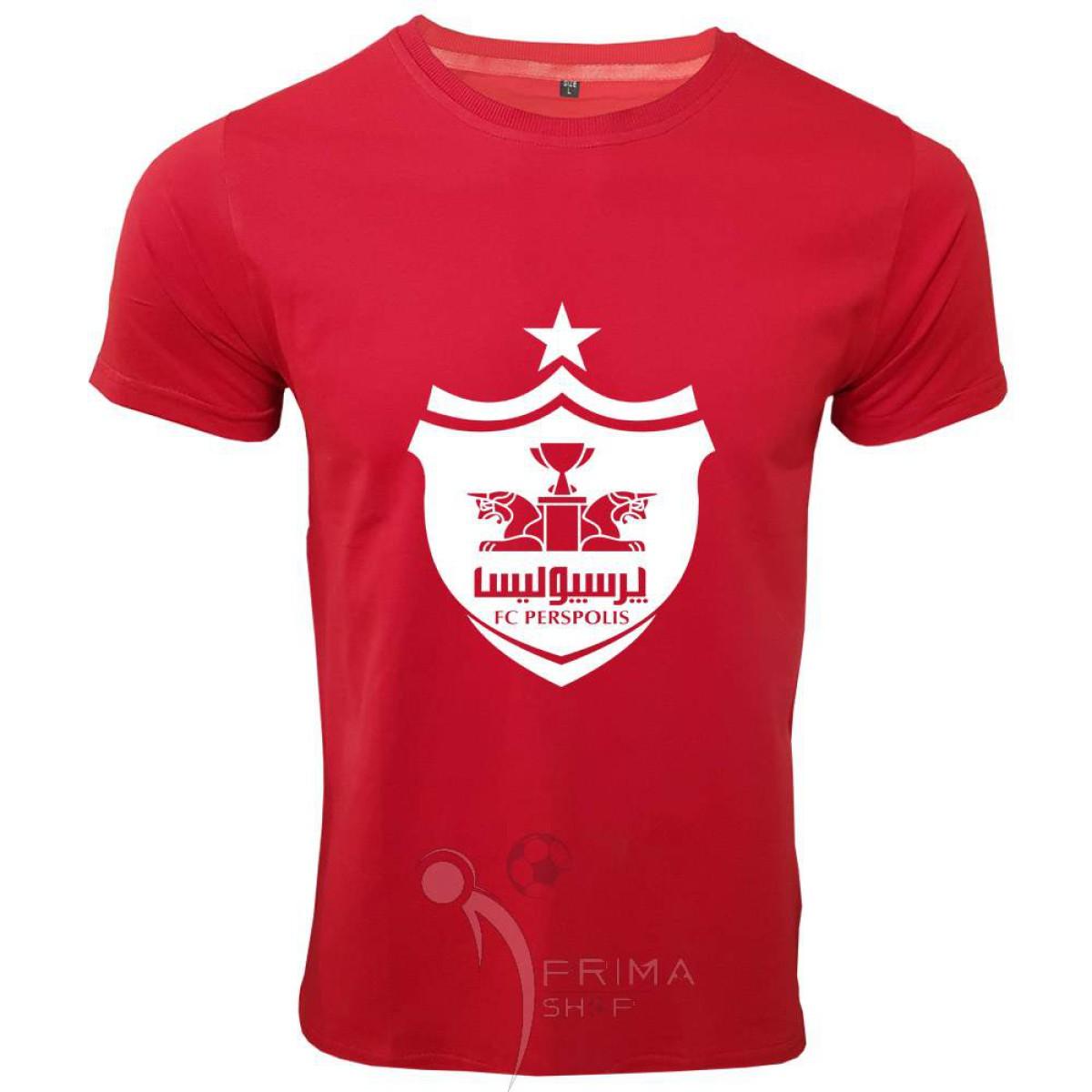 لباس هواداری پرسپولیس قرمزلوگو بزرگ آستین کوتاه