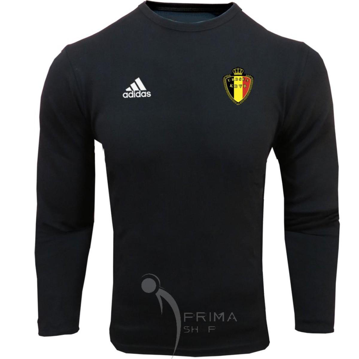 لباس هواداری بلژیک مشکی یقه دار آستین بلند