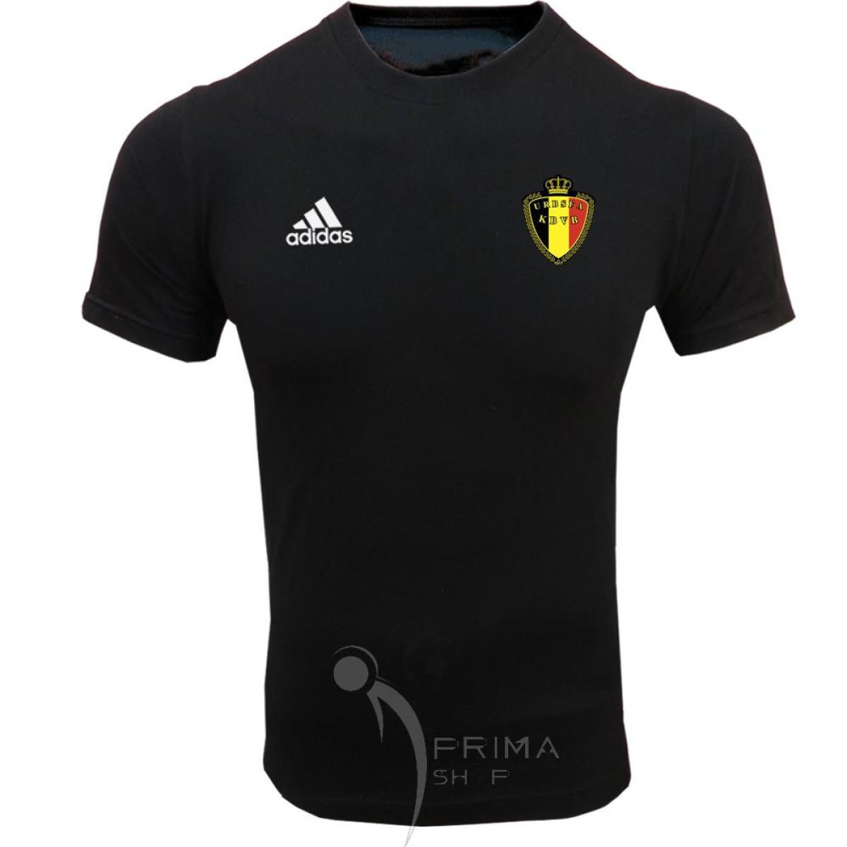 لباس هواداری بلژیک مشکی یقه گرد آستین کوتاه