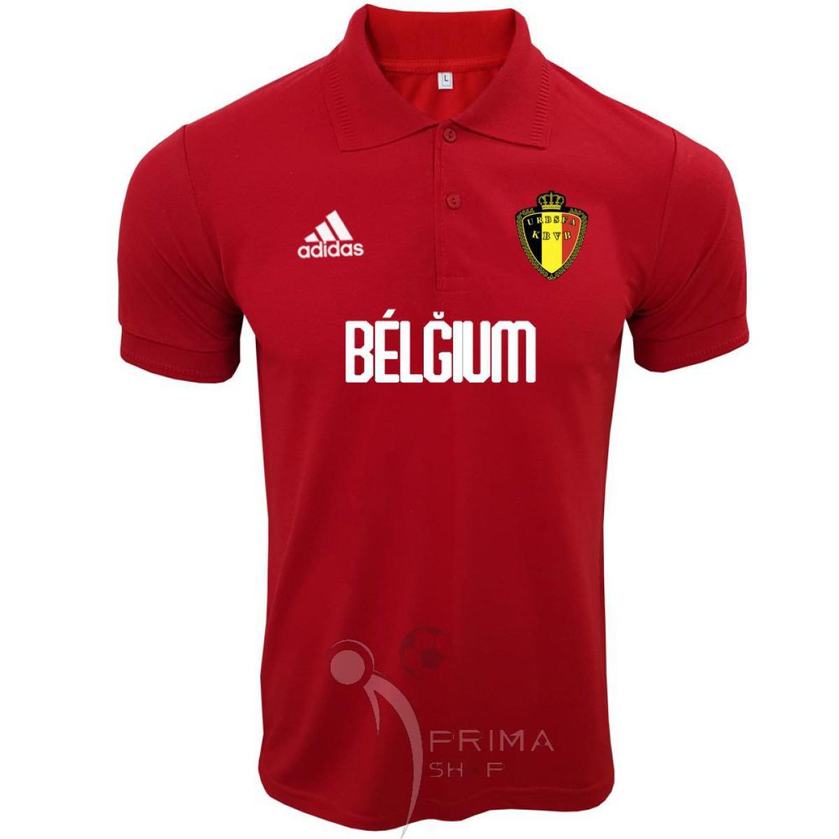 پیراهن هتلی بلژیک قرمز با اسپانسر