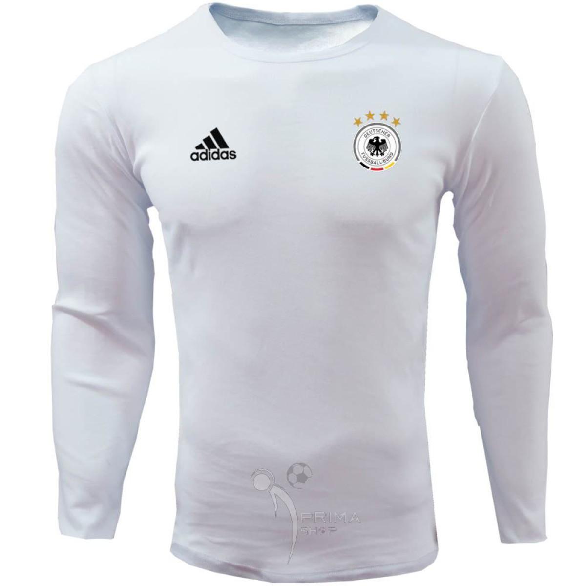 لباس هواداری آلمان سفید تیشرت آستین بلند