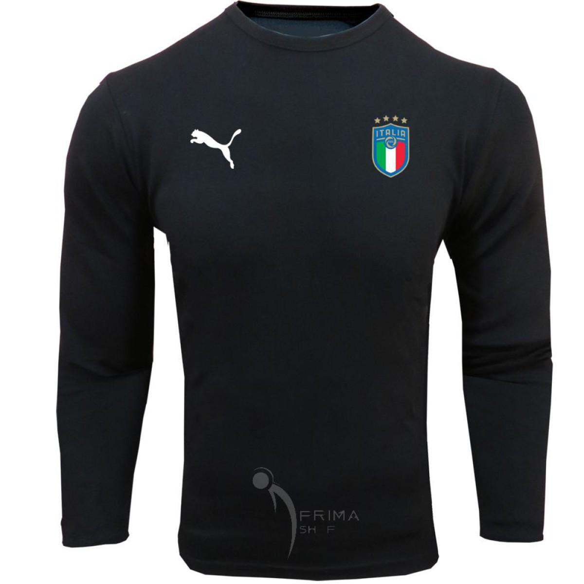 لباس هواداری ایتالیا مشکی تیشرت آستین بلند