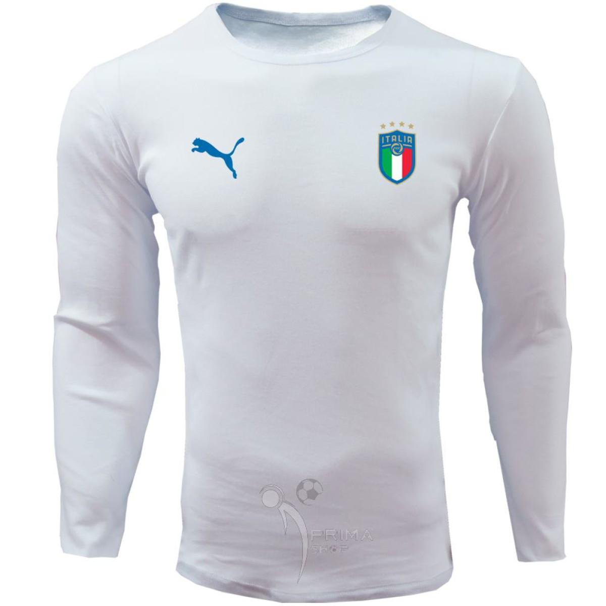 لباس هواداری ایتالیا سفید تیشرت آستین بلند