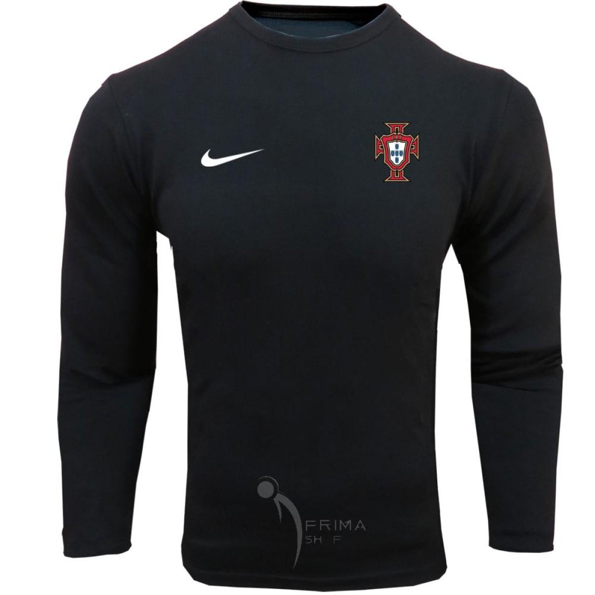 لباس هواداری پرتغال مشکی | تیشرت آستین بلند