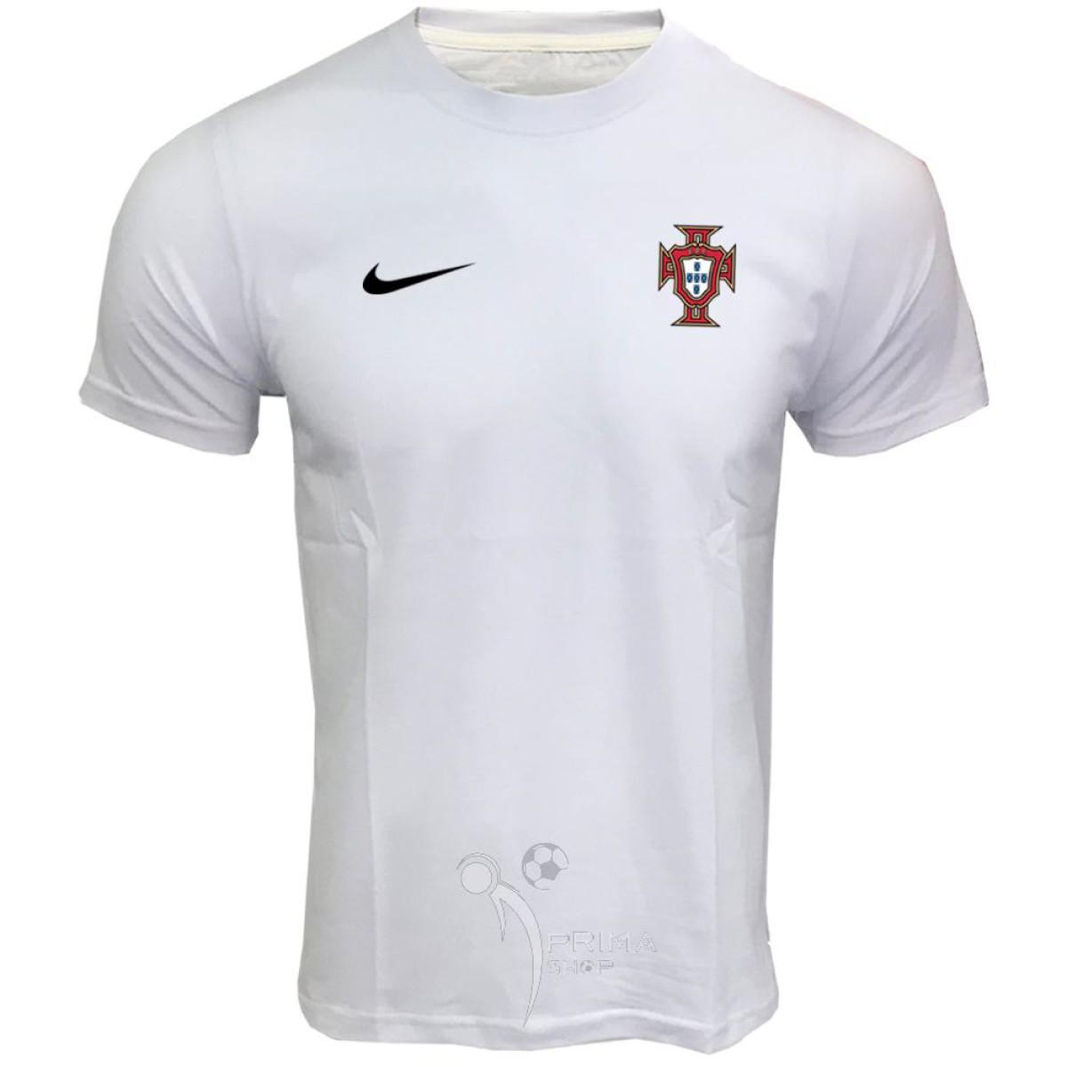 لباس هواداری پرتغال سفید آستین کوتاه